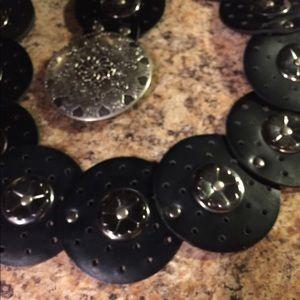 "🌹BOGO🌹 faux Leather 3.5"" attached circle belt"